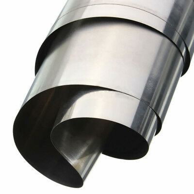 304 Silver Stainless Steel Fine Plate Sheet Foil Strip 0.1mm x 100mm x 1000mm UK