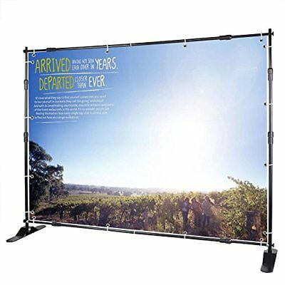 Happybuy Telescopic Backdrop Banner Stand 8' x 8' Banner Stand Adjustable Ste...