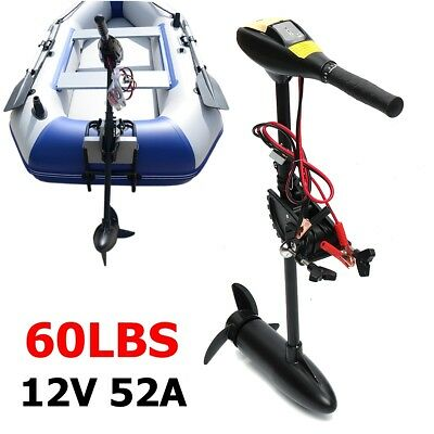 60LBS 12V Electric Outboard Trolling Thrust Motor For Inflatable Fishing Boat