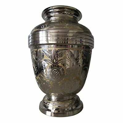 Adult Cremation Brass Urns - Golden Royal Look Memorial Large Urn for Human A