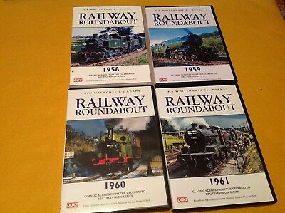 Job Lot Of 4 x Railway roundabout 1958/59/60/61 classic scenes from bbc  SA13