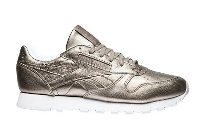 fba35980db326 REEBOK CLASSIC LEATHER Melted Metal Bronze White Women s Running ...