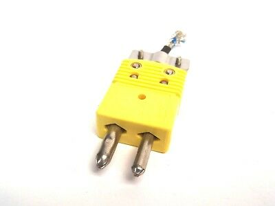 Omega Yellow K Type Bayonet Thermocouple Straight Feed CH+ AL-