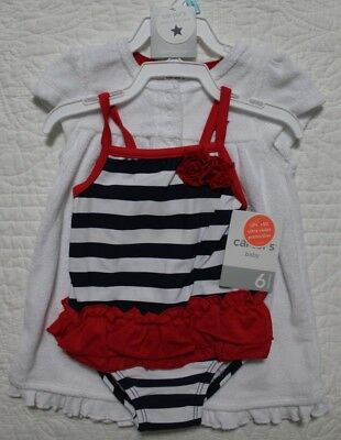ae62785d77 New Carters Baby Girls Swim Set One Piece Swimsuit With Cover Up Various  Sizes