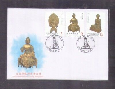 Taiwan RO China, 2001 Ancient Buddhist statues Relic Budda , FDC