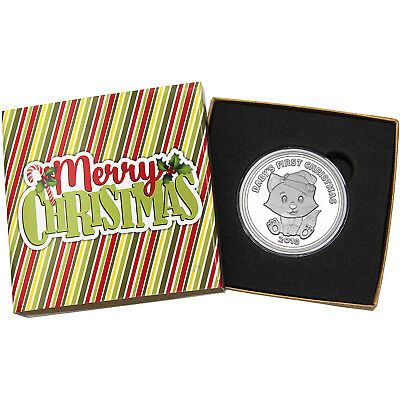 2018 Baby's First Christmas Baby Fox 1oz .999 Silver Medallion