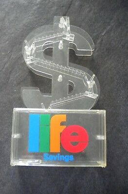 Vtg Life Cereal Savings Coin Bank Premium Mail In Away Never Used