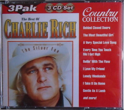 The Best Of CHARLIE RICH - 3 CD SET - 37 All Time Favorites - LIKE NEW
