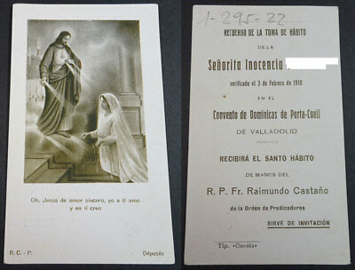 Old Blessed Sacred Heart Of Jesus Holy Card  1918  Andachtsbild Santini   Cc2074