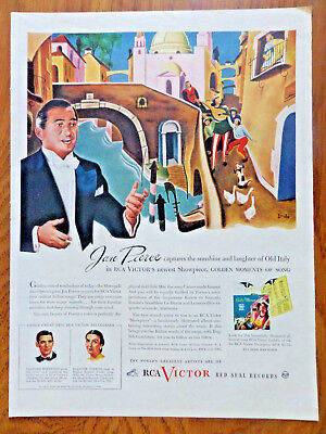 1945 RCA Red Seal Records Ad Jan Peerce Captures Sunshine Laughter of Old Italy