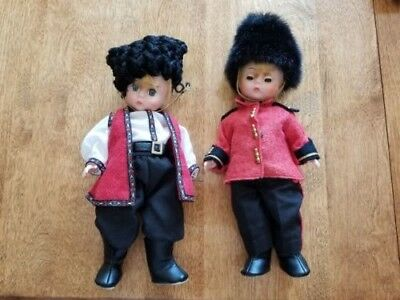 """Madame Alexander vintage, lot of 2, Cossack and English Guard, 8"""" dolls"""