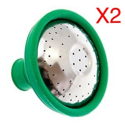 """2 x 1"""" / 2.5cm UNIVERSAL TRADITIONAL METAL & RUBBER WATERING CAN ROSE ATTACHMENT"""