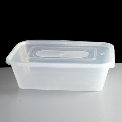 STRONG SATCO 750ml Plastic Containers+LIDS Clear Microwave Food Takeaway Storage