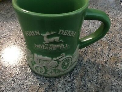 John Deere Raised-Relief Diner Stoneware Coffee Mug Cup Model D Tractor New
