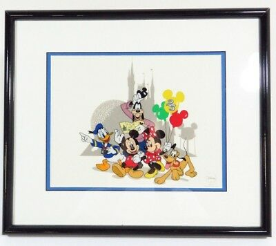 Disney Sericel Around The World with Fabulous Five 25th Anniversary Limited Ed.