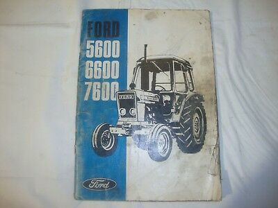 Agriculture/farming Ford Tractor 2600 3600 4100 4600 Operators Manual To Assure Years Of Trouble-Free Service