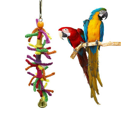 Pet Swing Bird Toy Parrot Cotton Rope Cage Hang Toys Parakeet Cockatiel Budgie