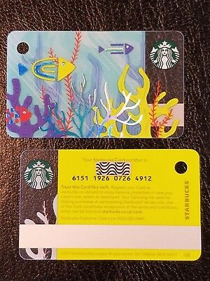U.K. Great Britain Starbucks UNDER SEA Mini Gift Card - Series 6151 - USA seller