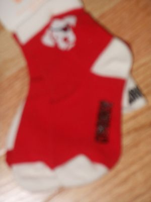 "NWT - Gymboree ""Fun at Heart"" 2 pairs of red & white puppy socks - 6-12 mos boys"
