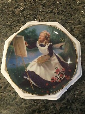 Elaine Gignilliat Little Women Danbury Mint Collector Plate - Amy
