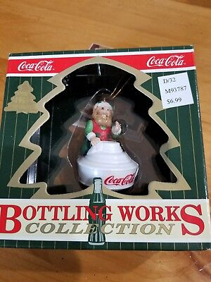 Coca-Cola Bottling Works Collection Santa's Elves Christmas Ornament 1997