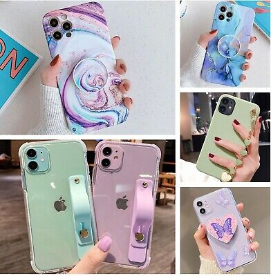 iPhone 7 8 Plus X XR XS Max 6 Marble Granite Case With Holder Stand Quality TPU