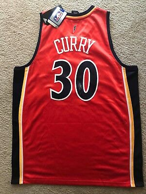 new arrival 6c434 589f3 100% ADIDAS GOLDEN State Warriors Rookie Stephen Curry Signed Jersey Orange