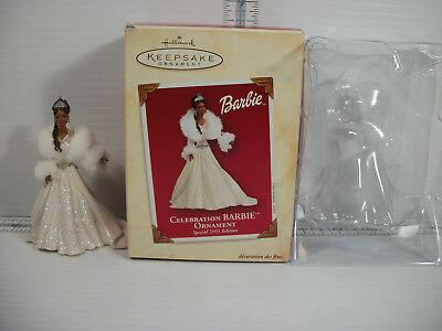 Hallmark Celebration Barbie Ornament 2003 Special Edition African American Boxed