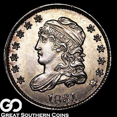 1831 Capped Bust Half Dime, Tough This Nice, Sharp Gem BU++ Early Silver!