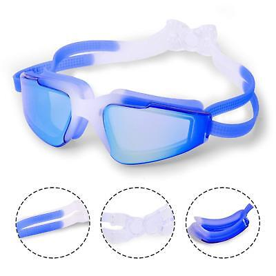 237dcc63f340 Youth Swimming Goggles No Leaking Anti Fog UV Protection Ear Plugs and Case  Blue