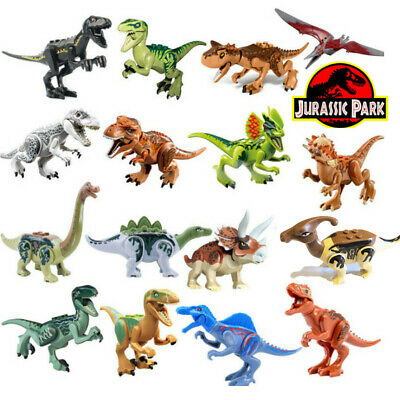 Jurassic World Dinosaur Mini Figures Building Blocks Fit Lego Toys T-rex
