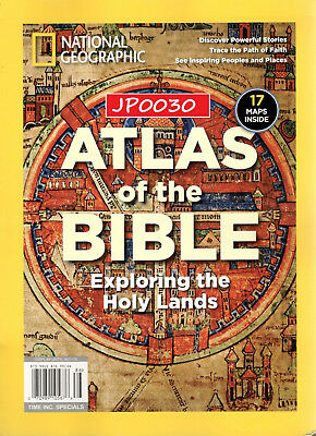 National Geographic 2018, Atlas Of The Bible, Brand New/Sealed