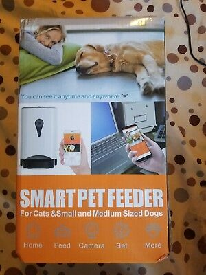 Smart Pet Feeder Food Dispensepet with Wireless Camera & Mic IOS Andriod Control