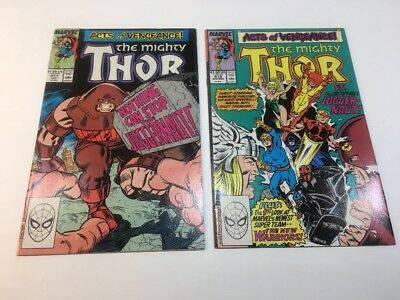 THE MIGHTY THOR #411 & 412 (New Warriors 1st appearance) Marvel Comics 1989
