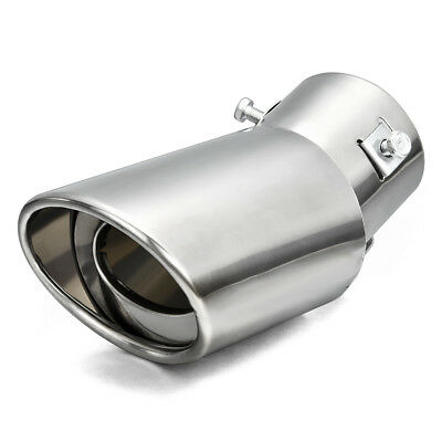 Stainless Steel Car Rear Round Exhaust Pipe Tail Throat Muffler Tip For 1.5-2.2T