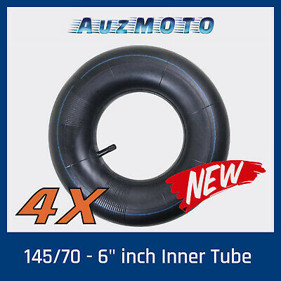 "4x 145/70- 6"" Tyre Inner Tube 70/110cc ATV Quad Bike Buggy Go Kart Mower Trailer"