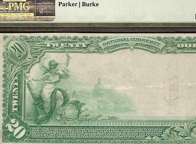 1902 $20 Dollar National Bank Of Independence Iowa Note Large Currency Pmg Au 50