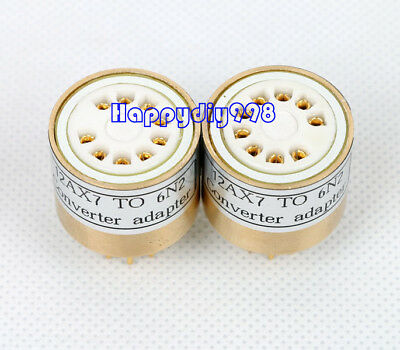 1x 12AX7 ECC83 TO 6N2 6H2N  vacuum tube adapter socket converter