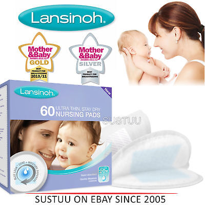 Lansinoh Disposable Nursing Pads│for Maternity Breastfeeding Mothers│Pack Of 60│