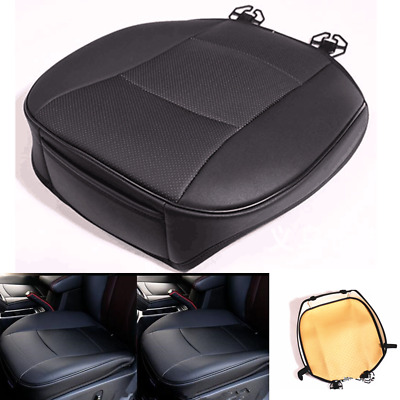 PU Leather Universal Car Cover Seat Protector Cushion Front Cover Deluxe Black
