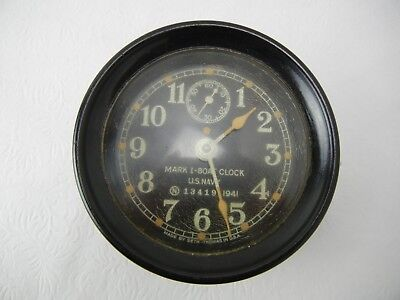 U.S. Navy WW II Mark I Boat Clock Seth Thomas