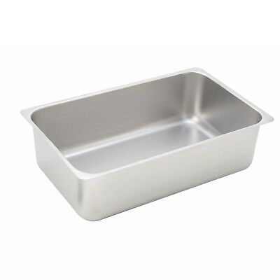 Winco C-WPP 6-Inch Deep Stainless Steel Spillage Pan, Full Size New