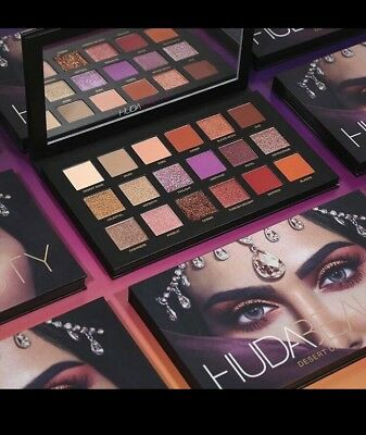 HUDA BEAUTY DESERT DUSK PALETTE Eyeshadow rosegold Eye Make Up Lidschatten Neu0