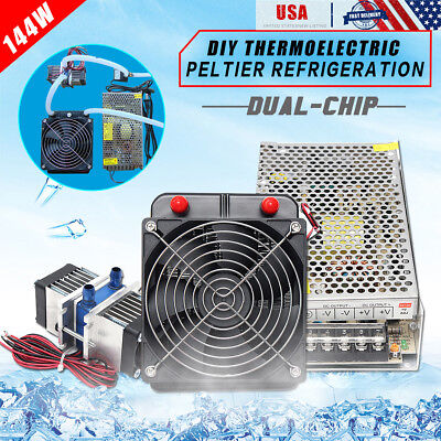 TEC1-12706 Thermoelectric Peltier Refrigeration Cooler+ Water Cooling System Kit