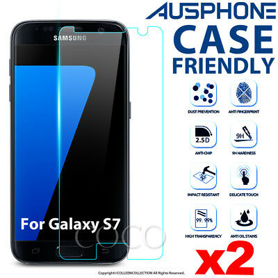 2X For Samsung Galaxy S7 G930 Genuine 9H Tempered Glass Screen Protector Film