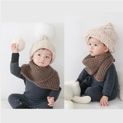 New Boys Girls Warm Winter Baby Scarf 1-4 Years old Kid Knitting Scarf 6A