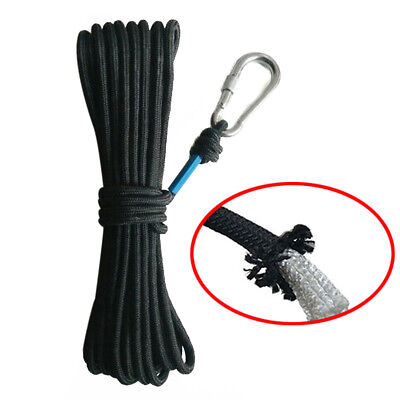 10 Meter Rope For Fishing Treasure Hunting Neodymium Recovery Magnet Tool UK