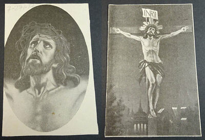 Old Blessed Jesus Christ In The Cross Holy Card Andachtsbild Santini      Cc2098
