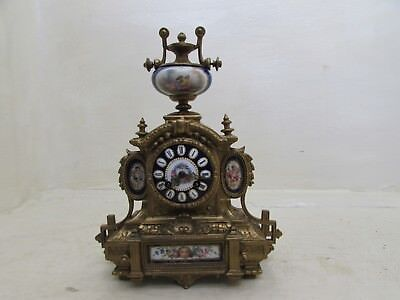 Victorian Philippe Mourey Cased Japy Freres Movement Gilt Spelter Mantel Clock