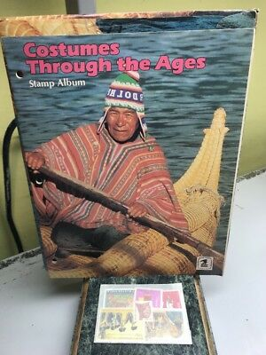 Costumes Through The Ages Stamp Album Collecting Kit - Brand New